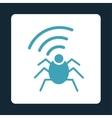Radio spy bug icon vector image vector image