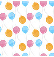 seamless pattern with balloons party element vector image vector image