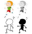 set boy sweating vector image vector image