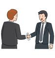 set handshake vector image