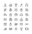 set wedding icons on white background vector image vector image