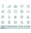 set yoga zen sport elements and fitness healthy vector image vector image