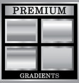 silver gradient backgrounds set vector image