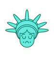 statue of liberty face emoji sightseeing america vector image