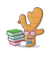 student ginger mascot cartoon style vector image vector image
