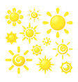 sun shine circle forms with rays stylized graphic vector image