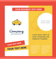 taxi company brochure template busienss template vector image