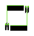 text quote sign green 3d icon with black vector image vector image