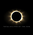 total eclipse of the sun poster vector image vector image