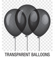 transparent black ballons vector image vector image