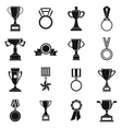 Trophy icons set siple style vector image vector image