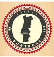 vintage label-sticker cards portugal vector image