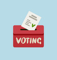 voting ballot in ballot box elections vote vector image