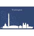 Washington city skyline on blue background vector image vector image