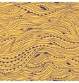 Wave Hair Pattern Yellow vector image