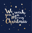 we wish you a merry christmas vector image vector image