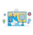 web design development concept with team work on vector image