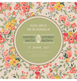 wedding invitation with flowers pink vector image vector image