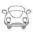 wedding vintage car black and white vector image