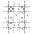 white puzzle separate parts vector image vector image