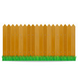 wooden fence vector image vector image