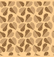 flower and leaves seamless pattern vector image