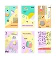 Set of creative universal cards Memphis Trendy vector image
