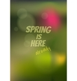 spring blurred background vector image