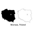 1139 warsaw poland vector image