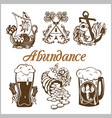 abundance food set vector image