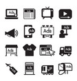 advertise icon set vector image
