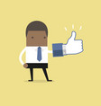 african businessman with thumbs up sign vector image vector image