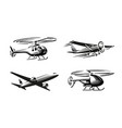air transport black silhouette vector image