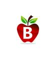 apple letter b logo design template vector image vector image