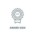 award sign line icon award sign outline vector image vector image