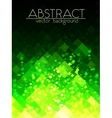 Bright green grid abstract vertical background vector image