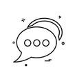bubble chat talk icon design vector image