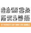 calligraphy style t shirt for st patricks day wi vector image