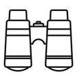 camp binocular icon outline style vector image vector image