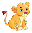 cartoon lioness isolated on white background vector image vector image