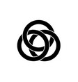 celtic knot interlocked circles logo tattoo icon vector image