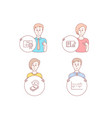 certificate feedback and cashback icons column vector image vector image