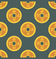 china gold money coins seamless pattern cash vector image