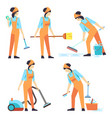cleaning service woman staff - cleaning staff of vector image vector image