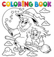 coloring book halloween image 1 vector image