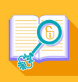 concept of reading discovering secrets vector image vector image
