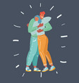 couple in embrace each other vector image