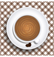 Cups of coffee vector image vector image
