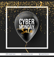 cyber monday sale background with balloons vector image vector image