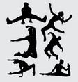 dance male and female silhouette vector image